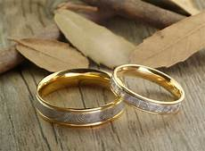 handmade gold wedding bands couple rings titanium rings ann