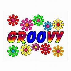groovy 70 s retro flower power gifts postcard zazzle