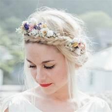festival meadow dried flower hair crown blumen im haar