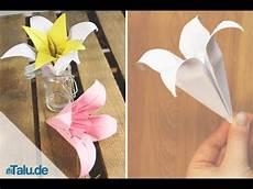 origami lilie falten anleitung fr 252 hlingsdekoration