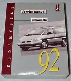 car maintenance manuals 1993 oldsmobile silhouette on board diagnostic system 1992 oldsmobile silhouette mini van factory service manual original shop repair ebay