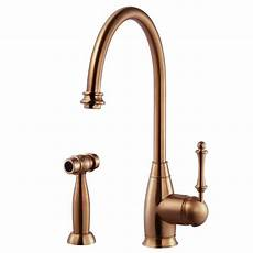 copper kitchen faucet houzer traditional single handle standard kitchen faucet with sidespray and ceradox