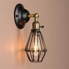 black wall l vintage industrial bird cage wall light antique brass sconce uk green and gold