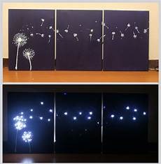 design three panel light up dandelion wall art