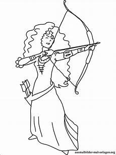 Ausmalbilder Indianer Mit Pfeil Und Bogen Prinzessin Merida Mit Pfeil Und Bogen Ausmalbilder
