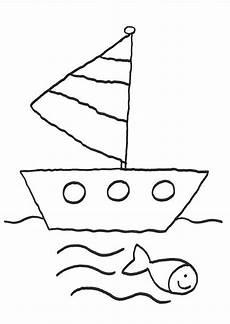 Malvorlage Schiff Einfach Ausmalbild Vatertag Ausflug Mit Schiff Kostenlos Ausdrucken