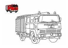 feuerwehrauto zum ausmalen feuerwehrauto feuerwehr und