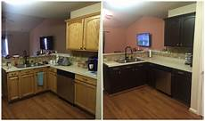 Kitchen Transformations Before And After by Diy Painting Kitchen Cabinets Before And After Pics