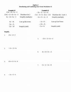 distributing and combining like terms worksheet 2 by lexie tpt