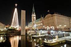 Malvorlagen Weihnachtsbaum Hamburg 0524 4331 Alsterschleuse Kleine Alster Bei Nacht