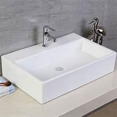 vasque de lavabo lavabo vasque rectangle de dessus de comptoir en c 233 ramique