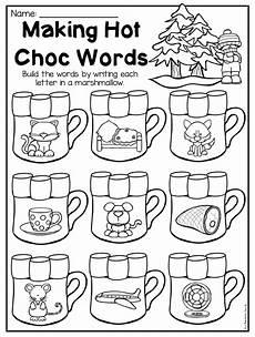 winter phonics worksheets for kindergarten 20143 winter kindergarten math and literacy worksheet pack kindergarten language arts kindergarten