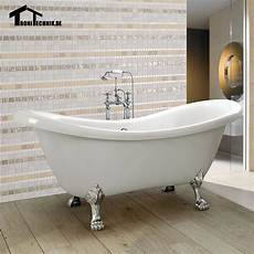 1600mm Freestanding Slipper Bath Tub Ended Roll Top