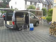 Nissan Evalia Nachfolger - nissan nv200 evalia mit seitlichem bettsofa auszugsbett