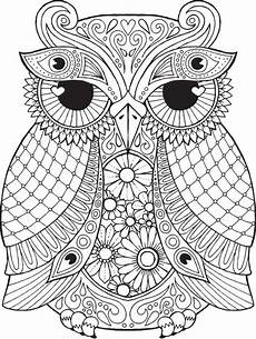 Ausmalbilder Muster Eule Owl Coloring Pages For Adults Free Detailed Owl Coloring