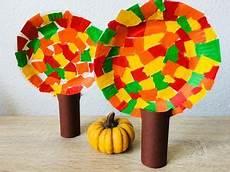 Herbstb 228 Ume Aus Pappteller Basteln Mit Kindern Basteln
