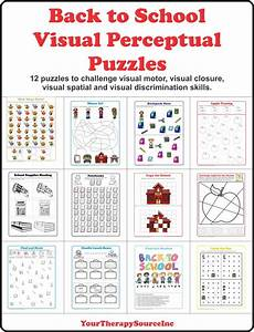 back to school visual perceptual puzzles your therapy source