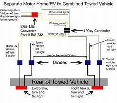 Rv Light Wiring Schematic by How To Wire Up A Motorhome 7 Way With A Separate Circuit