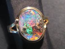stunning queensland boulder opal and solid gold ring