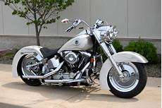 pearl white with two tone silver harley davidson
