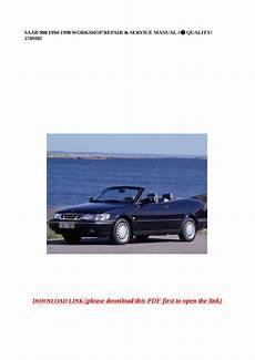 car repair manuals online pdf 1998 saab 900 spare parts catalogs saab 900 1994 1998 workshop repair service manual quality 570mb by abcdeefr issuu