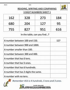 place value and value of numbers worksheets 5620 activities place value place value worksheets reading writing comparing 3 digits 1 math