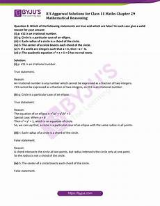 r s aggarwal solutions exercise 29a chapter 29 class 11 mathematical reasoning