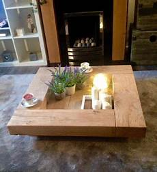 Designer Couchtisch Holz - oak sleeper coffee table wooden coffee table oak by
