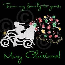 motorcycle christmas steelcowgirl merry merry christmas christmas