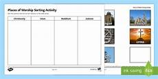 places of worship worksheets ks2 16010 places of worship sorting activity religion religious sort