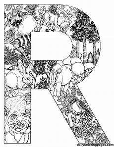 colouring pages for adults of animals letters 17309 r letter filled with r words http dailycoloringpages alphabet letters to print c animal