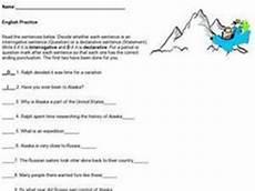 interrogative worksheets 18912 interrogative and declarative sentences 2nd 5th grade worksheet lesson planet
