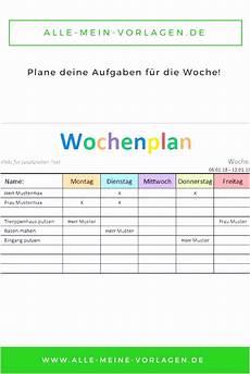 Malvorlagen Querformat Xls 10 Wochenplan Grundschule Vorlage Sletemplatex1234