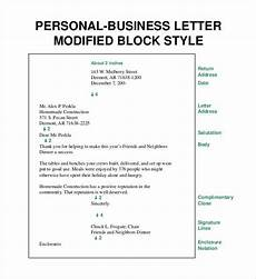 free 8 printable business letter format block style pdf