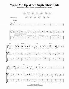 wake me up when september ends guitar tab by green day guitar tab 44616