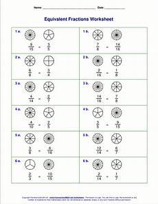 equivalent fraction worksheets grade 3 3916 free equivalent fractions worksheets with visual models