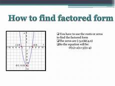 ppt making equations using the three forms of the quadratic powerpoint presentation id 2786623