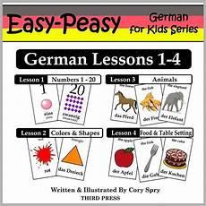 german lessons 1 4 numbers colors shapes animals food easy peasy german for series