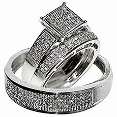 his wedding rings trio men 10k white gold buy online in uae jewelry products