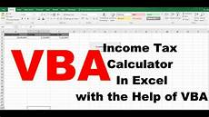 how to create income tax calculator in excel with the help