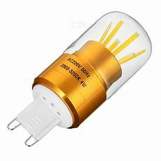 g9 4w dimmable 6 cob led bulb l warm white light 3200k