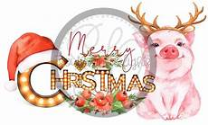 merry christmas pig antlers southern delights sublimation transfers