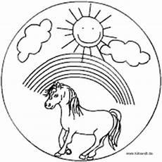 Ausmalbild Regenbogen Pferd Pferde Mandalas Im Kidsweb De