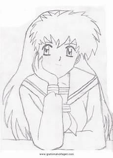 Anime Malvorlagen Comic Kagome Inuyasha 7 Gratis Malvorlage In Comic