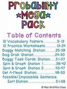 probability sentences worksheets 5887 probability activities mega pack of math worksheets and probability math worksheets