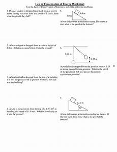 physical science worksheet conservation of energy 3 13056 worksheet 4 of conservation of energy