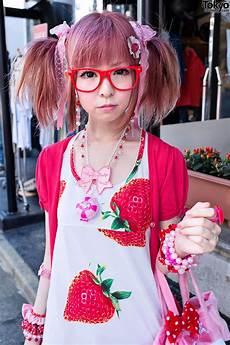 harajuku style hair moco in harajuku w strawberry themed style