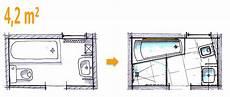 Kleines Bad Mit Dusche Grundriss - badplanung beispiel 4 2 qm komplettbad auf kleinstem raum