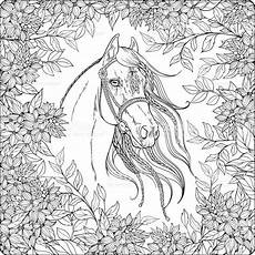 Ausmalbilder Pferde Winter Coloring Page With In The Garden Coloring
