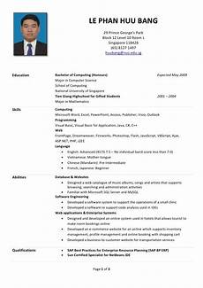 resume sles malaysia huu s r 233 sum 233 sle of resume for internship